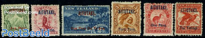 Overprints on New Zealand stamps 6v