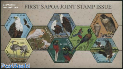SAPOA Joint Stamp Issue s/s, very rare item, withdrawn before issue