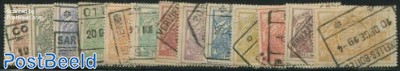 Railway stamps 13v