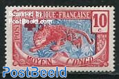 Central Congo, Red Cross 1v