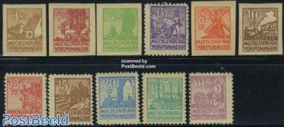 Mecklenburg-Vorpommern, definitives 11v