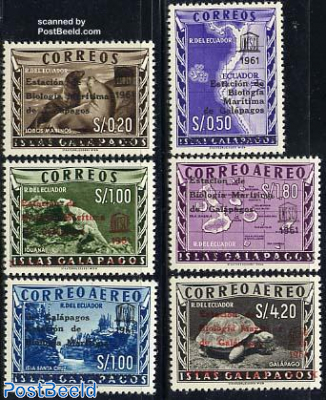Galapagos overprints 6v