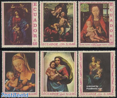 Madonna paintings 6v