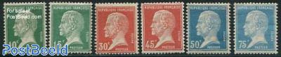 Definitives, L. Pasteur 6v