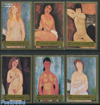 Modigliani paintings 6v