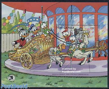 World stamp expo, Disney s/s (Donald,Mickey,Goofy)