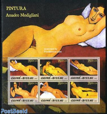 Amadeo Modigliani 6v m/s