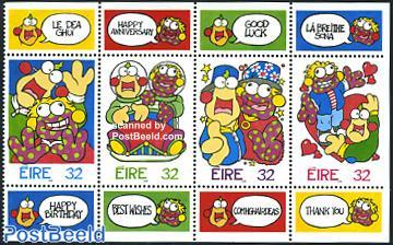 Greeting stamps 4v