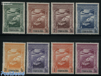 Airmail definitives 8v