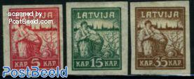 Liberation of Riga 3v, very thin paper