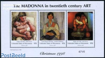 Christmas, paintings 3v m/s (3x60c)