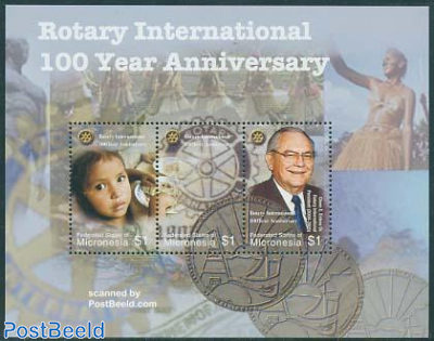 Rotary centenary 3v m/s