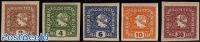 Newspaper stamps 5v