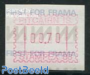 Automat stamp 1v, Face value may vary