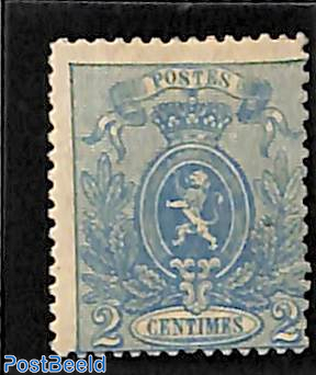 2c Blue, Coat of arms