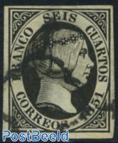 Queen Isabella II, 6cs black