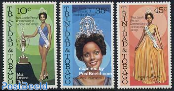 Miss Universe 1977 3v