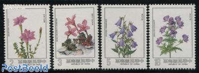 Mountain flowers 4v