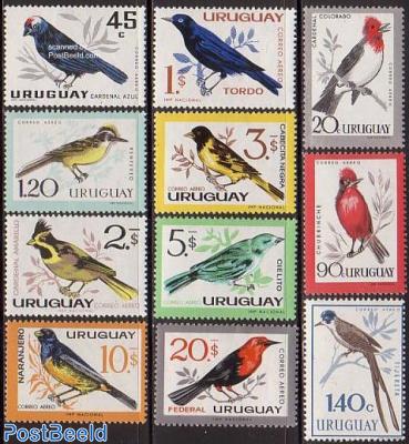 Airmail, birds 11v