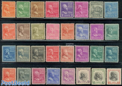 Definitives, presidents 32v