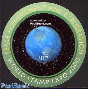 Stamp expo 2000 round s/s