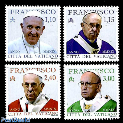 Pontificate Pope Francis MMXIX 4v