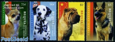 Bequia, dogs of the World 4v