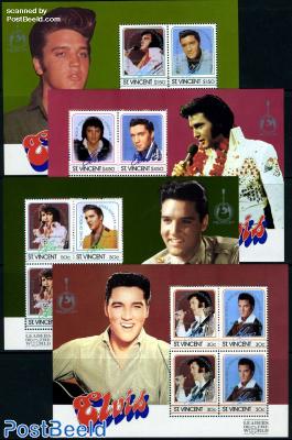 Elvis Presley 4 s/s overprints