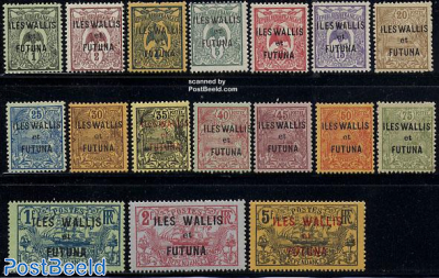 Definitives overprinted 17v