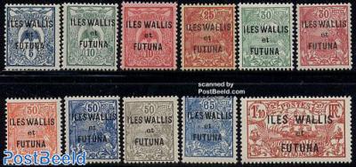 Definitives overprints 11v