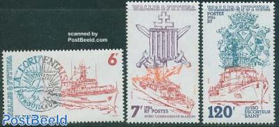 Naval ships 3v