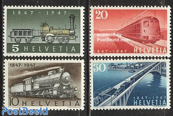 Railways centenary 4v