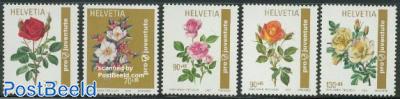Pro Juventute, Roses 5v