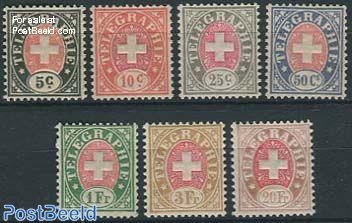 Telegraph stamps 7v